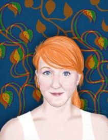 Allison: (not for sale) 2008 11″ x 17″ graphite/digital paint(portrait commissions available)