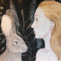 When God Was A Rabbit: 2017 30″ x 22″ graphite, watercolour & charcoal (sold – prints available)