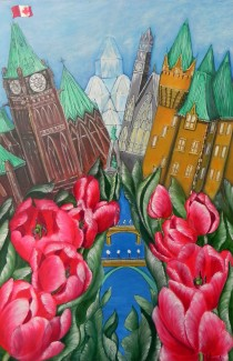 Jill Alexander Pride of Ottawa Red Tulips (002)