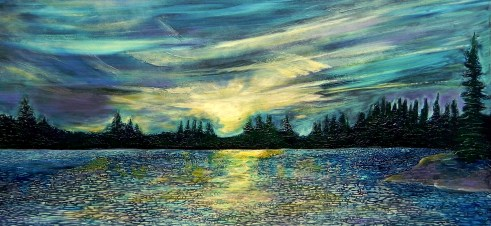 Jill Alexander Sunset on Johnson Lake (002)