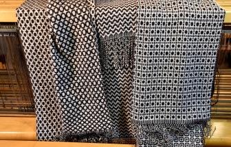 3 Scarves, one warp threading (2)