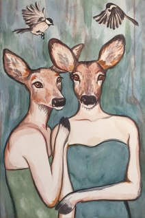Les Daimoiselles: 2018 16″ x 24″ watercolour (sold – prints available)