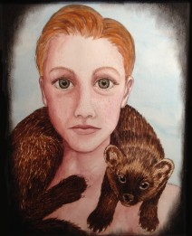 The Winter of the Fisher: 2016 16″ x 20″ graphite and watercolour
