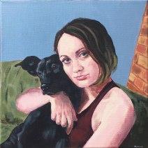 Erin & Polly: 2019 12″ x 12″ acrylic on canvas