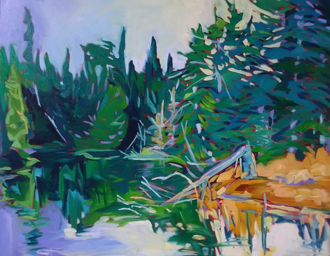 Shoreline-$1,400, oil on canvas, 24x30,