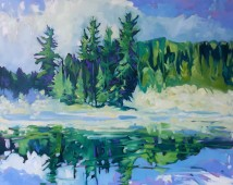 Morning Mist - $2,800. oil on canvas. 32x40,