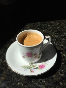 Espresso in a Rose Demi Tasse
