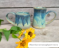 Blue Waterfall - $25/each, 10oz mugs.