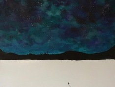 "Solitude - $1,200 - acrylic on gallery wrapped canvas, 30""x40"""