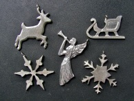 Christmas decorations, 26 designs - $5 ea