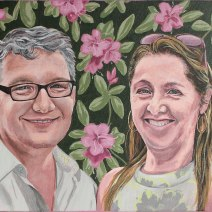 "Mike & Kathy: 2020 18""x24″ acrylic on gallery wrap canvas COMMISSION"