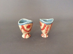 Goblets, red and turquoise - $40 ea Each