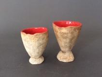 Goblets, red inside - $40 ea.